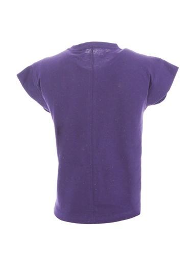 Sportive Girlnoptee Çocuk Koşu Tişört G10003-Ptr Mor